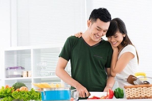 chế độ ăn của vợ chồng khi muốn có con
